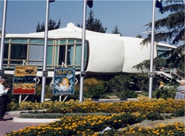 House Of The Future Seen From Tomorrowland Entrance