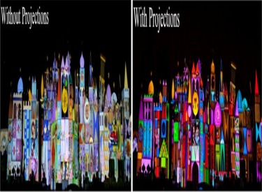 Façade With And Without Guest Magic Memories Projections