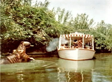 Jungle Boat Entering Hippo Pool