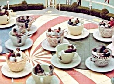 Aerial View Of Teacups