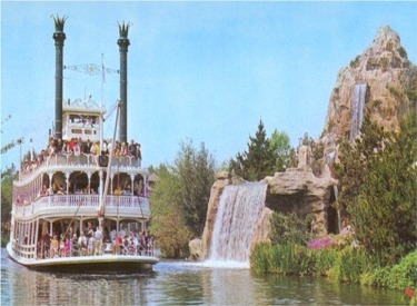 Mark Twain Passing In Front Of Cascade Mountain Falls