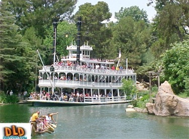 Mark Twain And Canoe On Rivers Of America