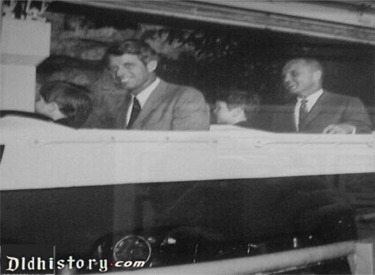 Robert Kennedy And John Glenn In Bobsled