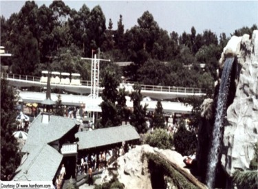 View Of People Mover And Autopia Sign From Matterhorn