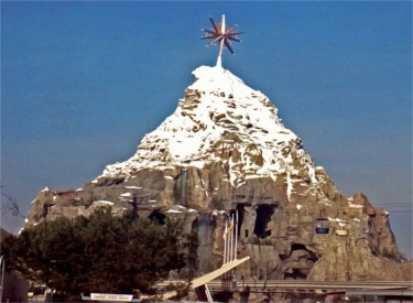 Christmas Star On Top Of Matterhorn
