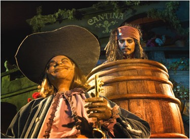 Close Up Of Jack Sparrow In Barrel
