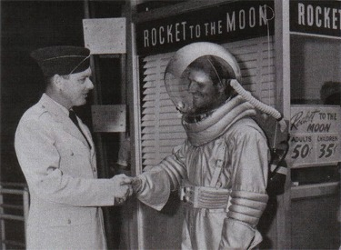 Spaceman And Ticket Booth