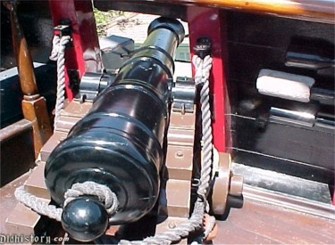 Close Up Of Deck Cannon
