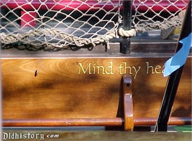Mind Thy Head Sign Going Below Decks