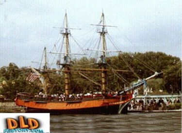 Columbia With Sails Stowed