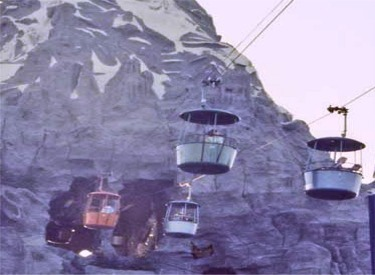 Skyway Buckets Passing Through Matterhorn