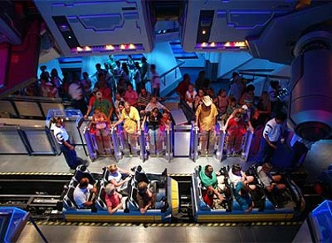 Refurbished Space Mountain Queue