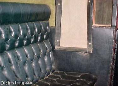 Seats Inside Of Stage Coach On Display In Frontierland