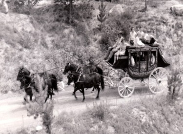 Stage Coach On The Trail