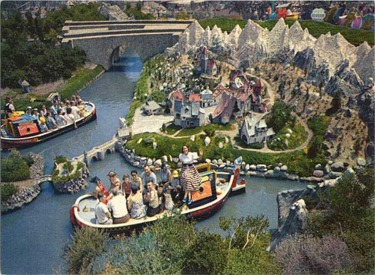 Aerial View Of Storybook Land Canal Boats