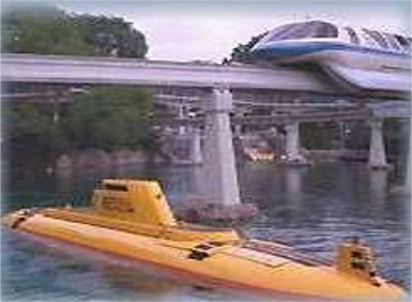 Yellow Submarine And Monorail