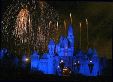 Sleeping Beauty Castle And Fireworks