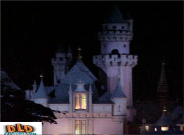 Close Up Of Castle At Night
