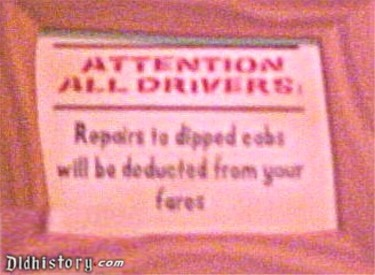 Warning To Drivers Of Dipped Cabs In Queue
