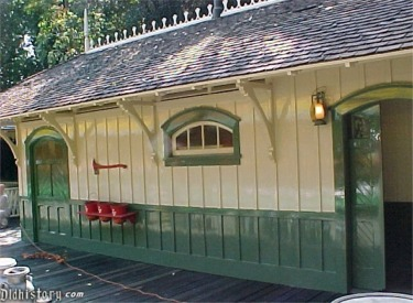 Close Up Of Restored Original Frontierland Station
