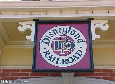 Close Up Of Disneyland Railroad Logo