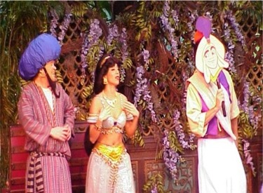 Prince Aladdin, Princess Jasmine And Barker Bob