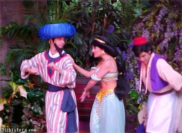 Aladdin, Princess Jasmine And Genie Dancing