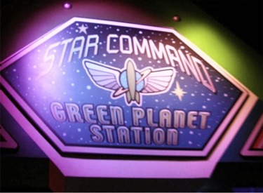 Star Command Green Planet Station Sign