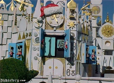 Time-lapse of converting  to It's A Small World Holiday