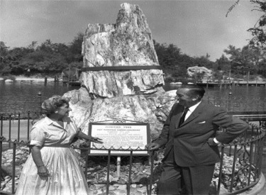 Walt And Lillian Beside Petrified Tree