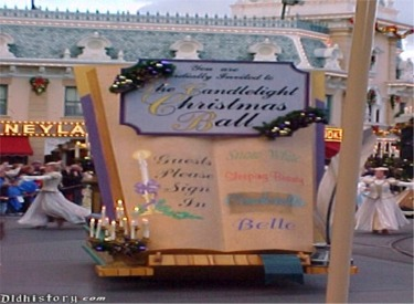 Candlelight Christmas Ball Guestbook Float