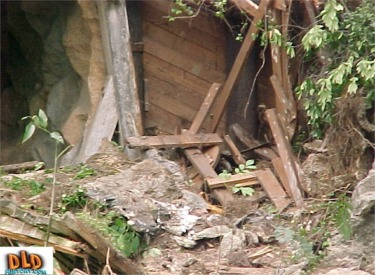 Storm Damage To Old Mine Train Tunnel