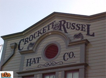 Close Up Of Crockett & Russel Hat Co. Building