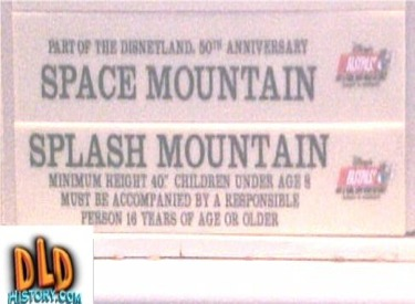 Attraction Wait Time Board Info About Splash And Space Mountains