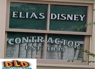Elias Disneys (Walts Father) Window On Main Street