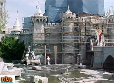 Getting Ready To Paint Sleeping Beauty Castle