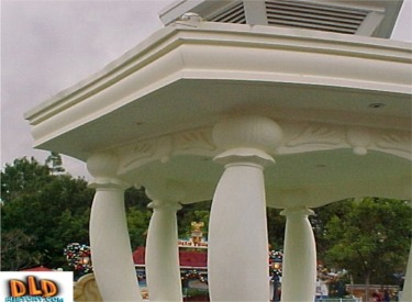 Close Up Of Toon Town Gazebo
