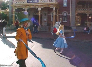 Mad Hatter, Alice And White Rabbit
