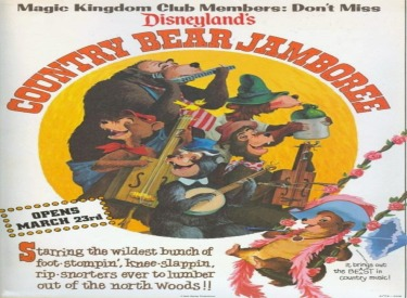 Country Bear Jamboree Advertisement