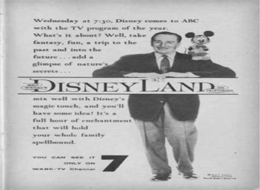Advertisement For Disneyland TV Show