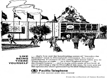 Pacific Bell Telephone Ad For America The Beautiful
