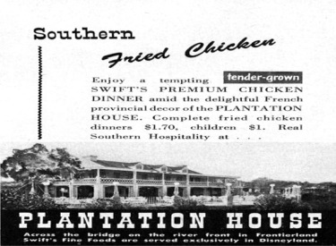 Ad For Plantation House Restaurant
