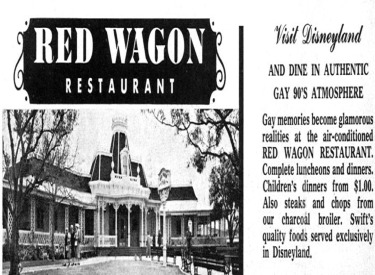 Ad For Red Wagon Inn Restaurant