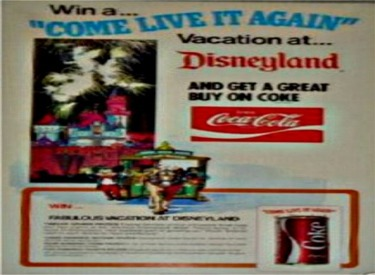 CocaCola Disneyland Advertisement
