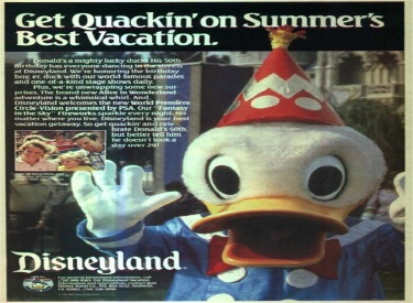 Advertisement featuring Donald Ducks Birthday
