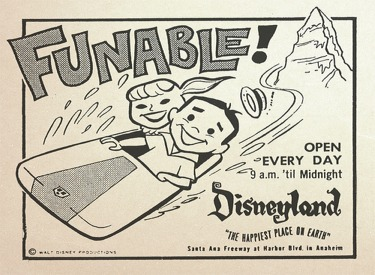 Disneyland Funable Advertisment