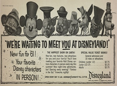 We're Waiting To Meet You At Disneyland Advertisment