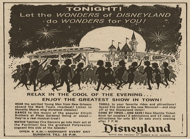 Disneyland After Dark Advertisment