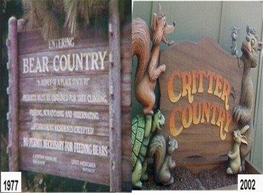 Bear Country - Critter Country Sign 1977-2002