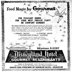 Gourmet Restaurants At The Disneyland hotel
